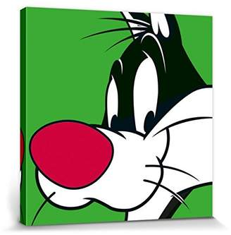 Looney Tunes 1art1 Stretched Canvas Print - Sylvester The Cat (32 x 32 inches)