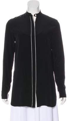 Edun Silk Button-Up Top