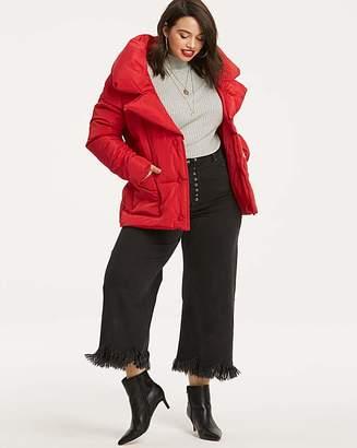 Fashion World Short Red Puffer Jacket