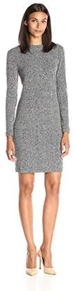 Lark & Ro Women's Mockneck Rib Knit Dress