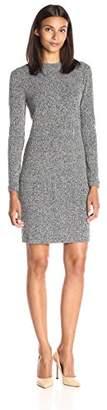Lark & Ro Women's Mockneck Rib Knit Dress