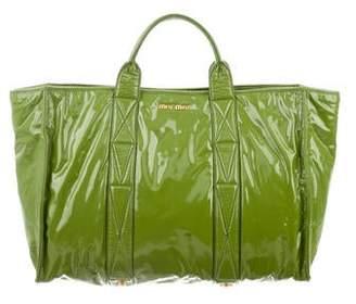 Miu Miu Patent Leather Satchel Bag
