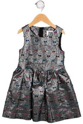 Milly Minis Girls' Metallic A-Line Dress