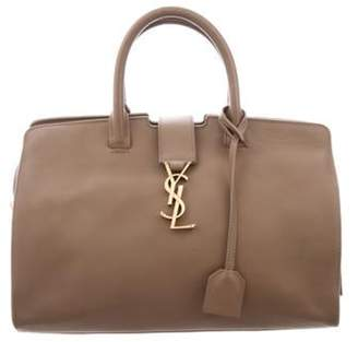 Saint Laurent Leather Cabas Tote gold Leather Cabas Tote