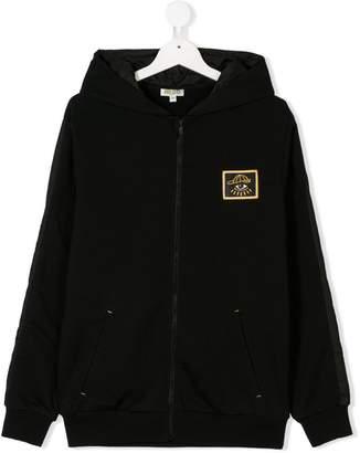 Kenzo TEEN logo patch hoodie