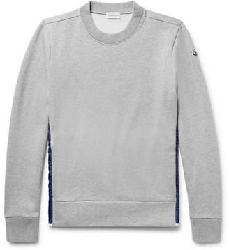 Moncler Shell-Panelled Fleece-Back Cotton-Jersey Sweatshirt