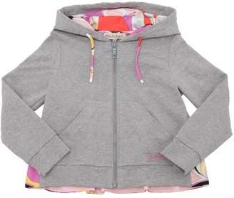Emilio Pucci Zip-Up Cotton Sweatshirt Hoodie
