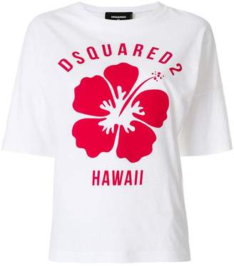DSQUARED2 Hawaii floral print T-shirt