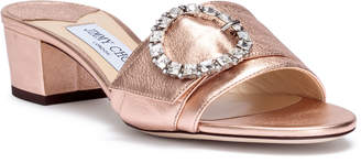 Jimmy Choo Granger 35 metallic rose gold leather sandals