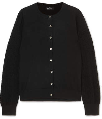 A.P.C. Cora Merino Wool-blend Cardigan - Black