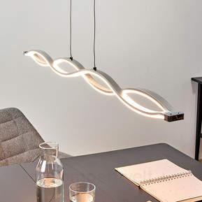 Wellenförmige Hängelampe Tura mit hellen LEDs