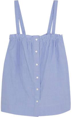 J.Crew Sandstone Pinstriped Cotton-poplin Camisole - Blue