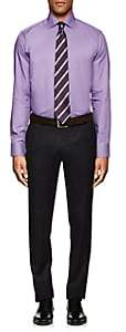 Eton MEN'S MICRO-HOUNDSTOOTH COTTON DRESS SHIRT-PURPLE SIZE 15 R