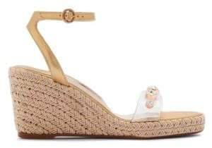 Sophia Webster Dina Gem Mid Espadrille Platform Wedge Sandals