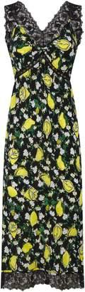 Diane von Furstenberg Lace-Trimmed Silk Issey Slip Dress