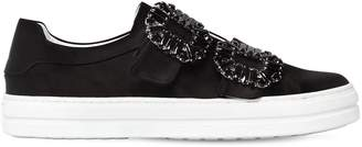 Roger Vivier 20mm Sneaky Viv Buckled Satin Sneakers