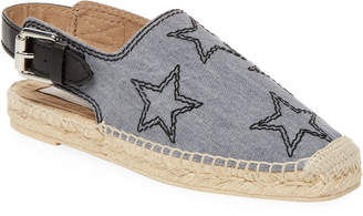 Stella McCartney Star Embroidered Slingback Espadrille