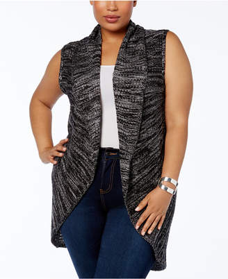 Love Scarlett Plus Size Shawl-Collar Knit Vest