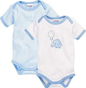 Playshoes Baby Kurzarm, 2er Pack Elefant, Oeko-Tex Standard 100 Bodysuit,(Manufacturer Size: 62/68)