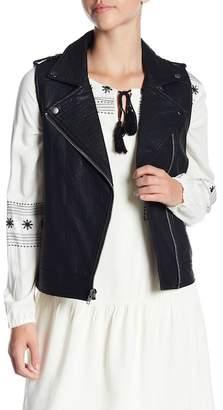 Cupcakes And Cashmere Artus Moto Faux Leather Vest