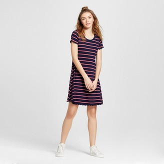 Mossimo Supply Co. Women's Knit Ruffle T-Shirt Dress Stripe - Mossimo Supply Co. $19.99 thestylecure.com