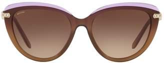 Bvlgari Two-Tone Cat Eye Sunglasses