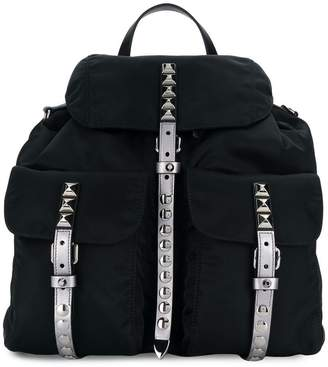 Prada studded Vela backpack