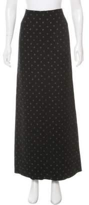 Marc Jacobs Virgin Wool Polka-Dot Maxi Skirt