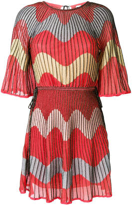 M Missoni embroidered flared dress
