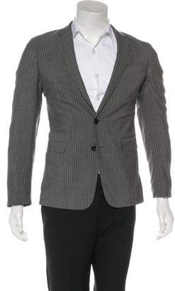 Dries Van Noten Striped Wool Blazer