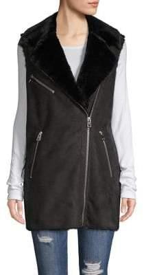 Vero Moda Sleeveless Faux-Fur Vest