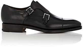 Carmina Shoemaker Men's Cap-Toe Double-Monk-Strap Shoes - Black