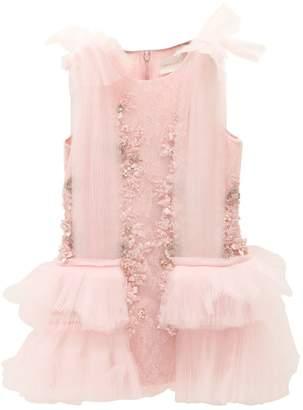 Silk Organza & Lace Party Dress