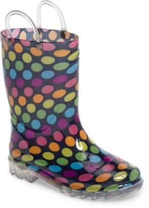 Western Chief Darling Dot Light-Up Waterproof Rain Boot