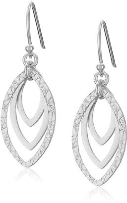 Marquis Amazon Collection Sterling Triple Drop Earrings