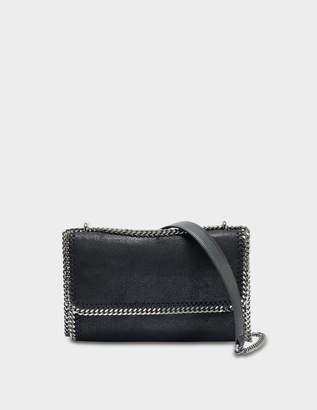Stella McCartney Shaggy Deer Falabella Shoulder Bag in Black Eco Leather