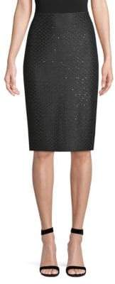 St. John Shimmer Sequin Pencil Skirt