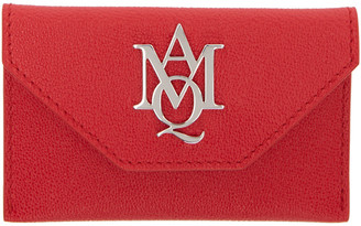 Alexander McQueen Red Insignia Envelope Card Holder $245 thestylecure.com