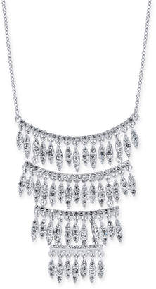 "INC International Concepts I.N.C. Silver-Tone Crystal Statement Necklace, 15"" + 3"" extender, Created for Macy's"