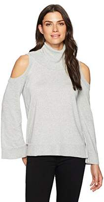 Chaus Women's L/s Cold Shoulder Turtleneck Sweater