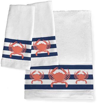 Laural Home Crab Stripe Bath Towel Bedding