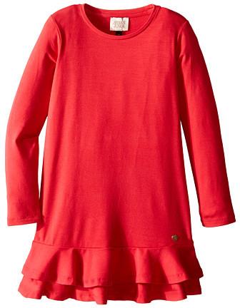 Armani JuniorArmani Junior Jersey Dress with Ruffle Hem (Toddler/Little Kids/Big Kids)