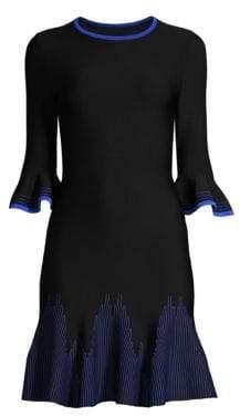 Shoshanna Pratt Bell Sleeve Dress