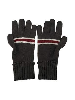Gucci Unisex Wool Gloves with Burgundy Beige Web 294732 1163