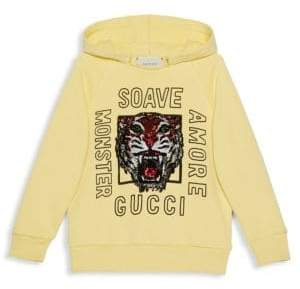 Gucci Little Girl's& Girls Cotton Tiger Hoodie