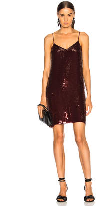 Tibi Sequins Beaded Slip Dress