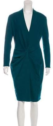 Lanvin Drape-Accented Midi Dress w/ Tags