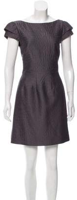 Halston Lace Knee-Length A-Line Dress w/ Tags