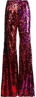 Halpern sequinned wide-leg trousers