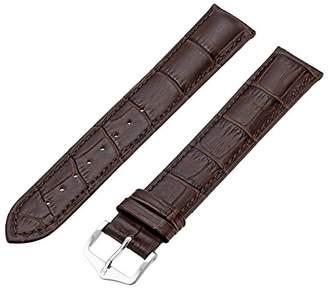 Hirsch 010282-10-19 19 -mm Genuine Leather Alligator Embossed Watch Strap